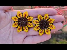 Hand Embroidery Videos, Beaded Jewelry, Jewerly, Crochet Earrings, Mandala, Jewelry Making, Beads, My Favorite Things, Flowers