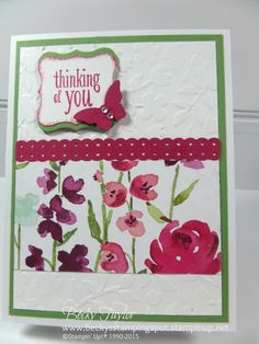Painted Blooms DSP, One sheet Wonder, stampinup, Thinking of You