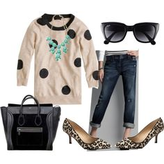 """""""dots + leopard"""" by turquoise22 on Polyvore"""