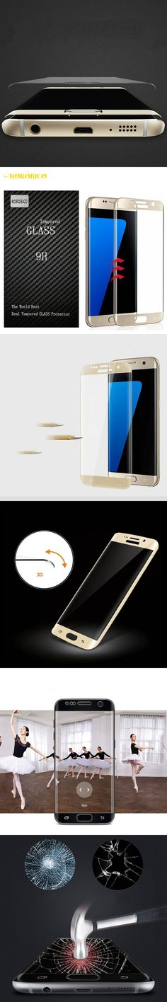3D Curved Full Screen Coverage Tempered Glass For Samsung Galaxy s7 edge / S7 G9308 G9300 G930A G930 G930F Screen Protector Film