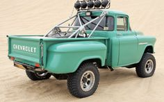 1955 chevy truck | 1955 Chevy 3100 Pickup Truck Rear Right View