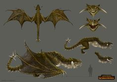 Total War: Warhammer Concept Art - Wyvern, Sandra Duchiewicz on ArtStation at https://www.artstation.com/artwork/ozxJ4