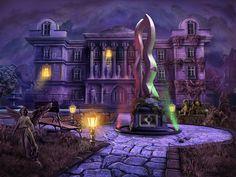 #statue #mansion #hautedhouse #house  #angelstatue #scene #art #gameart #gaming #gamedev #madheadgames #game