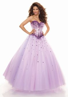 Mori lee Style 93012 Beaded Tulle in light purple. #PaparazziProm