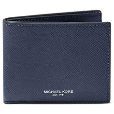 Michael Kors Harrison Billfold Wallet ($118) ❤ liked on Polyvore featuring men's fashion, men's bags, men's wallets, navy and michael kors mens wallet
