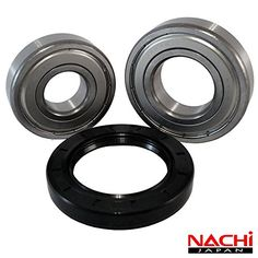 "Nachi Front Load Whirlpool Washer Tub Bearing and Seal Kit Fits Tub W10290562 (5 year replacement warranty and full HD ""How To"" video…"
