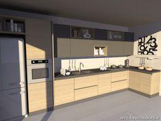 Cucina bianca opaca top in quarzo chiaro. Интерьер кухни