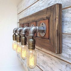 Excited to share this item from my shop: Rustic sconce wall lamp Sconce Steampunk lamp Barn Wood Industrial Bathroom Light Fixture Bar Light Kitchen lights Wall Light Industrial Bathroom Lighting, Light Fixtures Bathroom Vanity, Rustic Bathroom Vanities, Bathroom Wall Lights, Light Bathroom, Brown Bathroom, Vanity Bathroom, Wood Vanity, Industrial Wallpaper