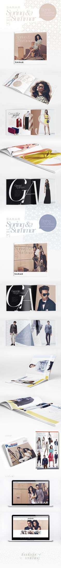 SARAR SS/14 Lookbook Design by yasemin cikrikci, via Behance