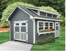 This beautiful shed by Classic Buildings features MiraTEC trim.