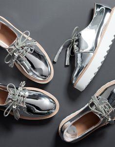 bluchers argent 39,95€ #mode #look #silver #blutcher #shoes #tendance #automne
