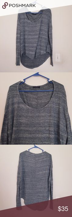 Brandy Melville Oversized Lightweight Sweater Worn only a few times. One size - oversized high-low sweater for free flowy relaxed look! 48% viscose / 32% Cotton / 20% Polyester Brandy Melville Sweaters