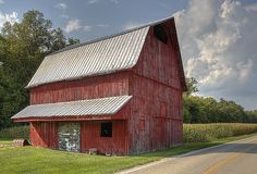 This barn is located on North River Road in Champaign County, Ohio