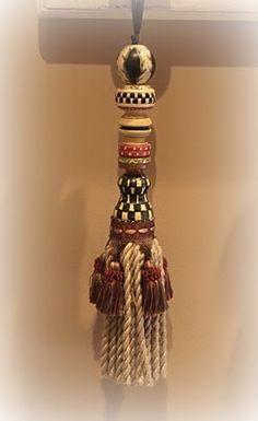 Handmade MacKenzie Childs style tassel