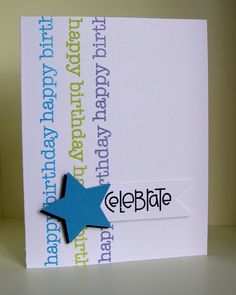 Cute. Never would have thought of multiple vertical stamping. #card #cards #scrapbooking #stamping #stamps