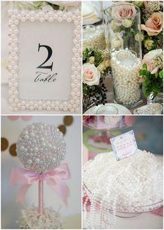 Ideas para decorar baby shower de perlas