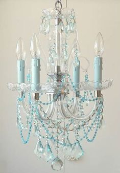 Shabby Chic Pink Paint Styles and Decors to Apply in Your Home – Shabby Chic Home Interiors Decor, Shabby Chic, Lighting, Chandelier Lamp, Shabby, Tiffany Blue, Chic Decor, Chandelier, Blue Chandelier