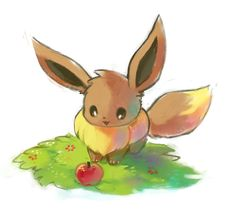 "korisinquehacer: "" small doodle while im working on something "" 150 Pokemon, Pokemon Pins, Cute Pokemon, Pokemon Eeveelutions, Eevee Evolutions, Eevee Wallpaper, Small Doodle, Backrounds, Evie"