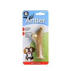 Pet Qwerks Nylon Beef Flavoring Antler Chew Toy, Medium ** Click image for more details. (This is an affiliate link) #DogChewToys