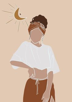 Girl Drawing Sketches, Illustration Art Drawing, People Illustration, Portrait Illustration, Art Drawings, Black Girl Art, Art Girl, Arte Sketchbook, Minimalist Art