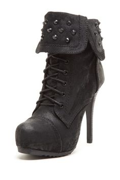Battle High Heel Lace Up Bootie