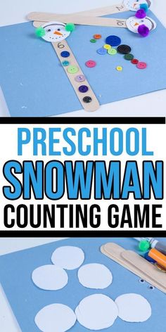 Looking for a quick winter counting activity for kids? This adorable snowman button counting activity is perfect for children in preschool and kindergarten! You can easily set up this activity at home or at school for math centers. Preschool Lessons, Preschool Math, Kindergarten Activities, Winter Preschool Activities, Winter Forest, Winter Fun, Winter Theme, Counting Activities, Math Games