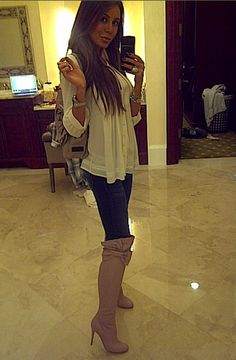skinny jeans and boots