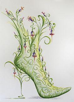 Shoe Art 2 Halloween Shoes, Fairy Shoes, King Design, Art Graphique, Shoe Art, Photoshop, Illustrations, Light Art, Oeuvre D'art