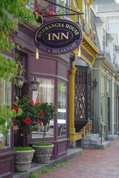Hydrangea House Inn:  Newport, Rhode Island lodging and bed and breakfast inn small luxury romantic Select Registry AAA 4 Diamond hotel