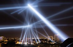An interactive artwork that allowed participants' voices to transform the sky over Philadelphia. Using a website or a free iPhone app participants could record a voice message and listen to and rate other entries. The messages were played-back over the Benjamin Franklin Parkway using 24 powerful robotic searchlights that reacted, both in brightness and position, to the voice's frequency and volume as well as to the phone's GPS location.