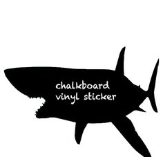 Watch out! There's a shark on your wall! The Shark Blackboard Wall Sticker is one marine predator that's staying put: https://clippings.com/products/shark-blackboard-wall-sticker-41241