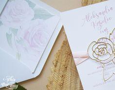Roses wedding invitation. Różane zaproszenia ślubne.