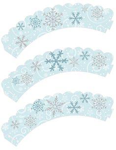 Instant Download!! Frozen Birthday Party Cupcake wrappers JPEG 300 dpi Printable DIY snow flakes disney Olloff Anna Elsa Winter wonder land
