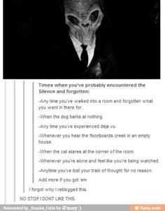 Times you have probably encountered the Silence   Doctor Who