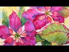 Poinsettia in Watercolor Real Time Painting Tutorial! - YouTube