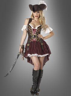 Piratenkostüm Damen Piratin bei Kostuempalast.de