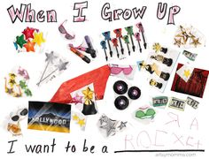 When I Grow Up Collage Craft for pre-k & kinders