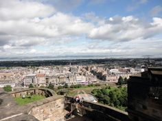 View of Edinburgh from Edinburgh Castle, Scotland