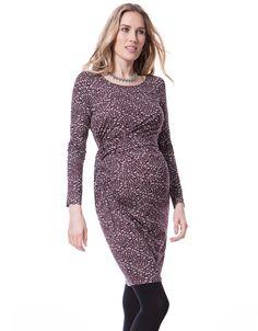 Seraphine Burgundy GeoPrint Dress