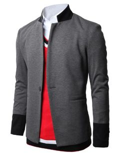 H2H Mens One Button Blazer Jackets with - 13961