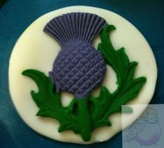 Edible Cake Topper - 5 Scottish Thistles