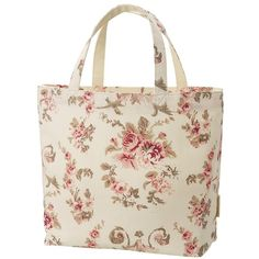 UNIQLO Women Cabbages & Roses Canvas Tote Bag Large ($5.90) ❤ liked on Polyvore featuring bags, handbags, tote bags, vintage tote, tote purses, pink tote bag, vintage handbags and handbags purses