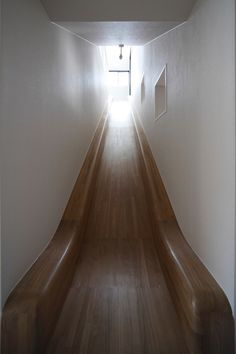 Wood Slide... Attic Playroom
