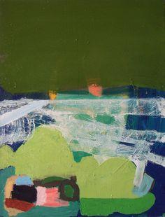 "Becky Yazdan - Occum Pond   oil on linen   24"" x 18""   2007"
