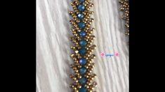 St. Petersburg Tekniği İle İkili Bileklik Yapımı Bead Jewellery, Diy Jewelry, Beaded Jewelry, Jewelry Making, Beaded Bracelets, Beading Tutorials, Beading Patterns, Crochet Accessories, Bead Art