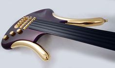 "G3 Purple Fretless Bass by Gus Guitars. Can you say ""BLING"" ?"