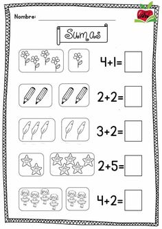 New Students: Getting An Education On College Kindergarten Math Worksheets, School Worksheets, Preschool Math, Learning Activities, Math Addition, Simple Addition, Hobbies To Try, New Students, Math For Kids