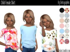 The Sims 4 Child Female Shirt Sims New, The Sims 4 Pc, Sims Challenge, Sims 4 Traits, Toddler Poses, Sims 4 Cc Kids Clothing, Sims 4 Children, Sims 4 Cc Packs, Sims 4 Toddler