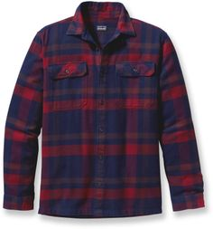 The Patagonia Fjord flannel shirt is warm enough to double as a light jacket on cool fall afternoons. #REIGifts