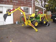 """Gallery - Category: Customers Pics: The """"Micro Hoe"""" for small tractors John Deere Compact Tractors, John Deere Garden Tractors, Small Tractors, 8n Ford Tractor, Garden Tractor Pulling, Garden Tractor Attachments, Homemade Tractor, Tractor Accessories, Kubota Tractors"""